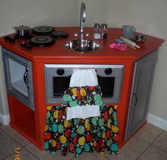 My homemade play kitchen!!