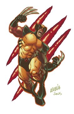 Wolvie pin-up drawn by Brian Level, colored by me. Marvel Dc, Marvel Comics, Wolverine Comics, Man Character, Marvel Comic Character, Jason Lewis, Charles Xavier, Dc Comics Characters, Xmen