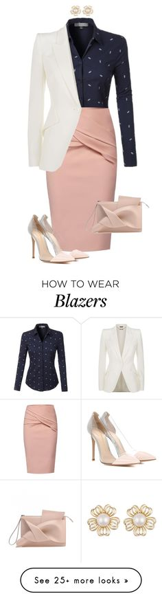 """""""#675"""" by anne1999 on Polyvore featuring LE3NO, WtR, Alexander McQueen and Gianvito Rossi"""
