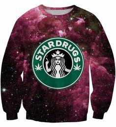 59181130ddb Stardrugs Purple Drink Crewneck Graphic Sweaters