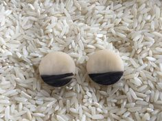Black and White Clay Earrings by cbrdesign on Etsy
