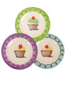Hand painted cupcake plates