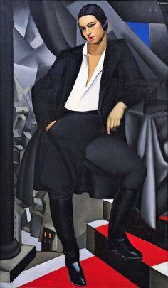 Tamara de Lempicka, Portrait of Duchesse de la Salle -1925 on ArtStack #tamara-de-lempicka-lempicka #art