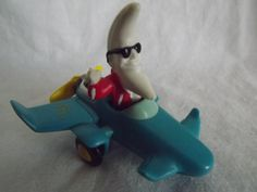 Vintage McDonald's MacTonight Happy Meal Toy in Airplane 1980s Blue Red Yellow White via Etsy