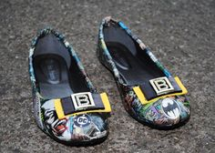 Batman 1989 Movie Special Shoes by JoelyYoungDesign on Etsy, $50.00