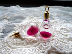 2 Lava Lamp Charm Pink Floating Liquid Oil Pendant by BuyDiy, $2.25