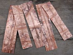 Having access to a torch once again, I am so happy to be working on new copper cuffs. A sheet of copper that was a construction project l. Copper Art, Copper Jewelry, Hammered Copper, Metal Forming, Recycled Jewelry, Handmade Jewelry, Copper Tubing, Handmade Copper, Metal Clay