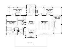 Beach Style House Plan by Geoff Chick - 4 Beds 4.5 Baths 2728 Sq/Ft Plan #443-13 Upper Floor Plan - Houseplans.com