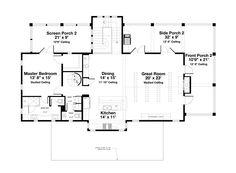 Beach Style House Plan by Geoff Chick - 4 Beds 4.5 Baths 2728 Sq/Ft Plan #443-13 Upper Floor Plan - Houseplans.com