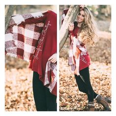 • Frayed Checkered Scarf • Oversized gingham checkered pattern scarf. Frayed style at the ends. 100% polyester. Please DO NOT purchase this listing. Comment your size below and I'll make a separate listing for you. Jennifer's Chic Boutique  Accessories Scarves & Wraps