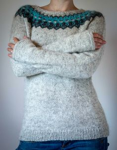 Ravelry: The Icelandic Knitter / Tricoteuse d'Islande Fair Isle Knitting Patterns, Sweater Knitting Patterns, Knitting Stitches, Knit Patterns, Crochet Jumper, Knit Crochet, Icelandic Sweaters, Sweater Design, Vintage Crochet
