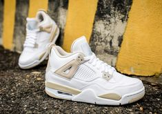 "11b52e9a69e78c Jordan Brand has reissued the ""Linen"" colorway of the Air Jordan 4 Retro .  The colorway dates back to 2006 as a women s exclusive re."