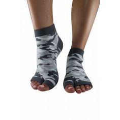 36953a962 Urban Camo Split Toe Yoga Socks with Grips. Open Toe SocksAnkle SocksGrip  SocksYoga SocksFlip Flop ...