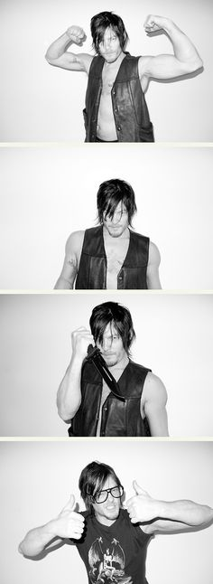 Norman Reedus - Daryl Dixon - The Walking Dead. this guy couldn't take a bad picture if he tried!!!....