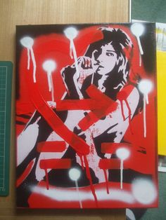 painting of amy winehouseshot through the by AbstractGraffitiShop, $60.00