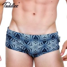e218c61d11f Taddlee Brand 2017 Sexy Men Swimwear Swimsuits Swim Boxer Briefs 3d Printed Men's  Board Beach Surfing Shorts Trunks Gay Pouch-in Men's Trunks from Sports ...