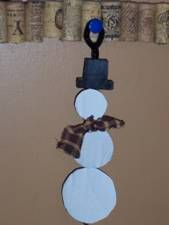 Snowman made from cardboard and pipe cleaners for kids to decorate from Making Learning Fun.