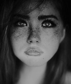 Fascinating Portraits by Marta Syrko.  Her freckles and eyebrows