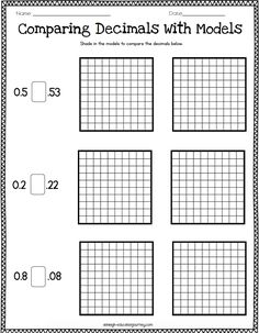 Like fractions, decimals are a concept that should be taught for deep conceptual understanding in order for students to be successful in high level math classes. It can be easy, even tempting, to breeze through a decimal unit, but students. Math Literacy, Homeschool Math, Math Classroom, Teaching Math, Maths, Teaching Decimals, Decimals Worksheets, Math Fractions, Dividing Fractions