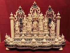 Hindu Cosmos : Ivory carved Dashavtar:10 Avatars of Vishnu.