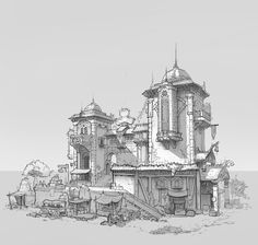 ArtStation - 建筑, 豆 芽