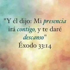Y él dijo: Mi presencia irá contigo, y te daré descanso. Éxodo 33:14