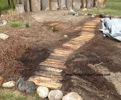 Image result for pallet walkway around garden