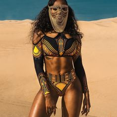 New Yellow African Dashiki Print High Waist Bikini Swimsuit 2017 Long Sleeve Swimwear Women Thong Bikini Off Shoulder Swim Suits