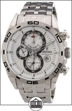 Festina F16654/1 - Reloj cronógrafo de cuarzo para hombre con correa de acero inoxidable, color plateado de  ✿ Relojes para hombre - (Gama media/alta) ✿