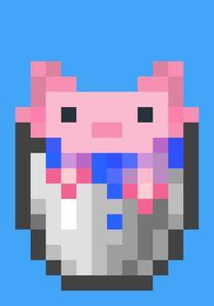 Minecraft Drawings, Minecraft Pixel Art, Painting Minecraft, Pearl Beads Pattern, Pixel Art Grid, Wings Drawing, Hama Beads Minecraft, Pearler Bead Patterns, Mini Canvas Art