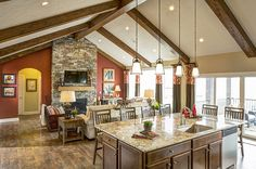 Beverly II E - Midwest | Schumacher Homes love the size of the island