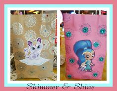 Shimmer and shine party candy bags