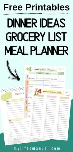 Free Weekly Meal Planner with a Grocery List, Instant Pot Recipes and a Simple Meal Planning PDF Guide Weekly Meal Plan Template, Menu Planning Printable, Printables, Weekly Menu, Family Meal Planning, Budget Meal Planning, Food Budget, Budget Recipes, Meal Recipes