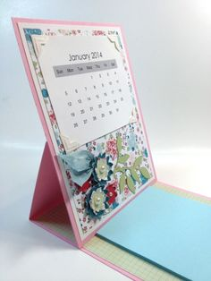 Calendar / Post It Note Easel Holder by laura513 - Cards and Paper Crafts at Splitcoaststampers
