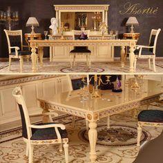 Bianca Klasik Yemek Odası Takımı & Bianca Classic Dining Room Team Detail: www.asortie.com
