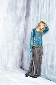 #danieladallavalle #collection #elisacavaletti #fw15 #blue #grey #tshirt #skirt