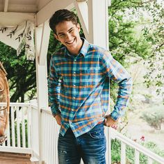 Our plaid shirts are now made with stretch for ultimate comfort.
