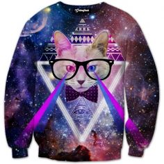 The DJ cat of the galaxy is back to rule the other space cats in a party like none other ever seen before  Party amongst the stars in space and get trippy  Our full print crewneck sweatshirts are uniquely crafted using a special sublimation technique