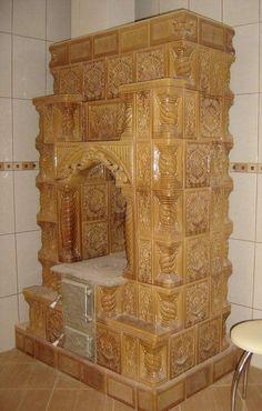 Superba soba de teracota cu plita incorporata. Wood Stove Cooking, Design Case, Terracotta, Interior Design, Antiques, Furniture, Home Decor, Piece, Wood Stoves
