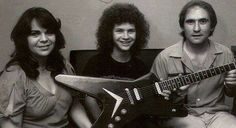 Darrell with his very first Dean guitar. Darrell got this guitar on his birthday, and only days later he would win a guitar contest. Paul Abbott, Pantera Band, Vinnie Paul, Missing You Brother, Dean Guitars, Dimebag Darrell, Funny Tattoos, Celebrity Travel, Stuff And Thangs