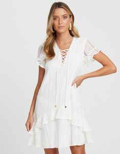 Milly Lace Frill Dress