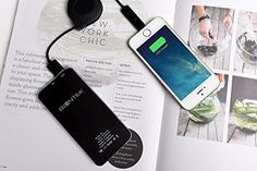Biontek ultra slim power bank 6000mAh http://www.amazon.com/Charger-6000mah-iPhone-Samsung-Galaxy/dp/B00PK2KJGS/ie=UTF8?m=A1J1BD7A4059OZ&keywords=ultra%20slim%20power%20bank