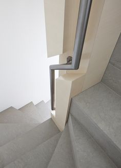 The deft deployment of lighting and sumptuous materials serves to create a stunningly rich, yet simple living space in this Manhattan triplex. Staircase Handrail, Stair Railing, Staircase Design, Railings, Architecture Details, Interior Architecture, Interior Design, Stair Steps, Minimalist Apartment