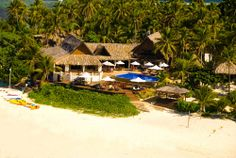Spending our first 3 days of the honeymoon here at Matamanoa Island Resort in Fiji- Pic from Hotels.com