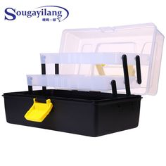 3 Layer 30*18*15CM Fishing Tackle Box Strong Plastic Multifunctional Case  #fishingtrends