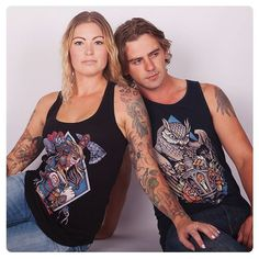 """35 Likes, 1 Comments - Sam Phillips (@samphillipsillustration) on Instagram: """"A couple of many men's and women's singlet designs available at www.samphillips.printmighty.co.nz"""""""