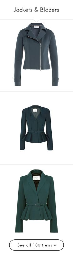 """""""Jackets & Blazers"""" by crownprincessamanda ❤ liked on Polyvore featuring outerwear, jackets, blue, biker jackets, motorcycle biker jacket, blue moto jackets, moto jackets, harris wharf london, blazers and casacos"""