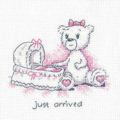 Just Arrived Justine Bear Card (GPJU1353)New card kit featuring 'Justine Bear', designed by Peter Underhill for Heritage Crafts.  Kits Contain : 14 count Zweigart fabric, DMC stranded cottons, needle, clear charts and instructions, card and envelope. Card measures: 19.5cm x 19.5cm (aperture size is 12.5cm x 12.5cm). *Please allow upto 7 working days for dispatch*
