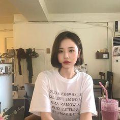 Fashion design shirt tees 67 new Ideas Asian Short Hair, Girl Short Hair, Short Hair Cuts, Short Hair Styles, Short Hair Korean Style, Tomboy Hairstyles, Short Bob Hairstyles, Pretty Hairstyles, Asian Hairstyles