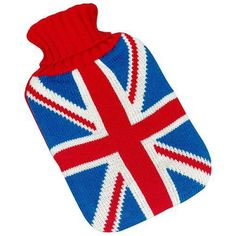 Knowing typical British weather, you could be in need of one of these! Vintage Britannia Knitted Union Jack Hot Water Bottle | PastTimes.com